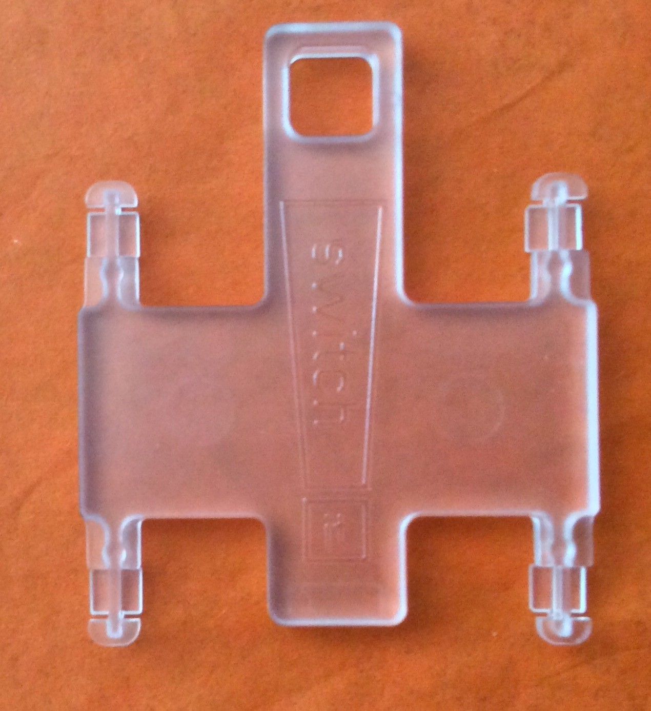 """switch it"" Garniturenhalter transparent für Vollmetall"