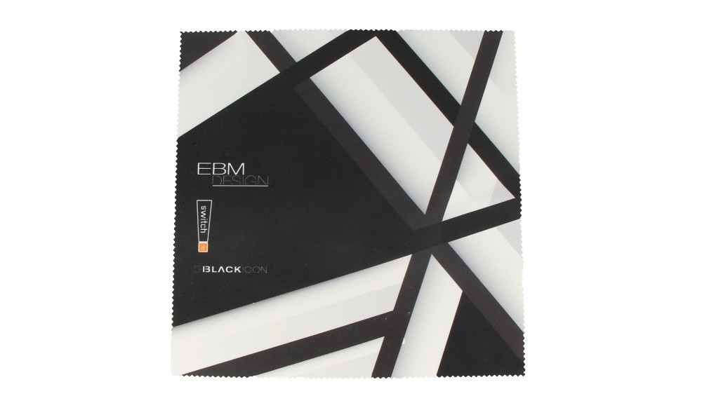 "EBM, ""switch it"", BlackIcon Putztuch 20 x 20 cm ""Streifen"""