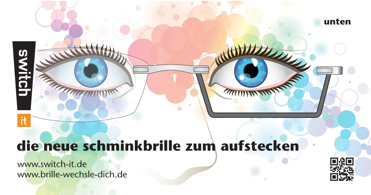 """switch it"" Schminkbrille"