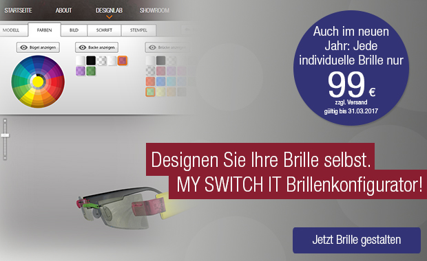 MY SWITCH IT - Der individuelle Brillenkonfigurator